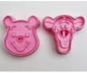 WINNIE THE POOH & TIGGER cookie cutter set / cookie stamps / imprint cutter