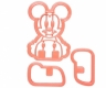 3D MICKEY MOUSE cookie cutter / sandwich cutter