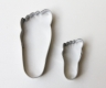 BABY FEET / FOOT cookie cutter - set of 2