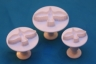 Fondant plunger cutter DOVE - set of 3