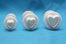 Fondant plunger cutter HEART- set of 3