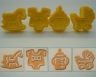 Fondant plunger cutter BABY - set of 4