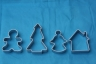 CHRISTMAS cookie cutter set of 3 - metal