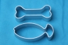BONE & FISH cookie cutter set of 2 - metal