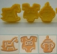 Fondant plunger cutter BABY - set of 3