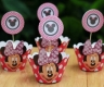 MINNIE MOUSE - cupcake wrappers and toppers set of 12 (24pcs)