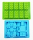 SET of 2 - Silicone LEGO like MINIFIGURE & BLOCKS mould chocolate / ice / jelly