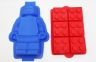 Silicone LEGO like BLOCKS & MINIFIGURE Cake Moulds - LARGE Set of 2