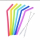 SILICONE SMOOTHIE Straws (BENT) - 10mm wide kids friendly