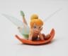 Fairy Cake Topper - lying Tinkerbell (on leaf)